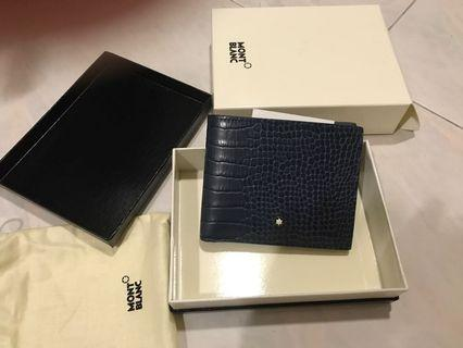 MONTBLANC meisterstuck leather wallet Blue