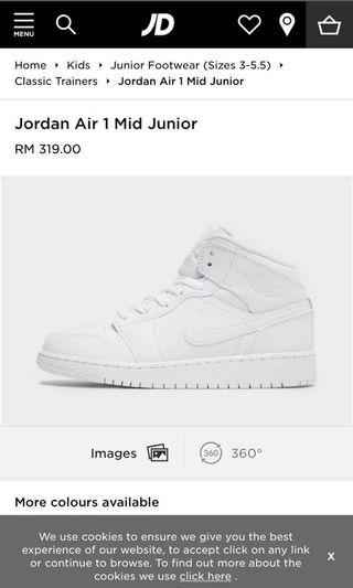 Air Jordan 1 Mid ( Kids )