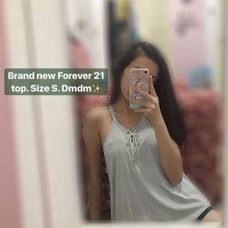 Forever 21 mint green sleeveless lace top girls women teenager wanita