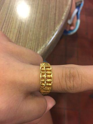 🚚 Abacus gold ring