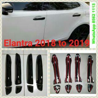 Hyundai Elantra 2018 to 2019 glossy black door handle cover