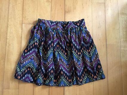 Pattern chiffon mini skirt 雪紡迷你裙