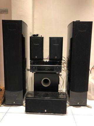 Yamaha Surround Home Theatre System with Floor Standing Speakers