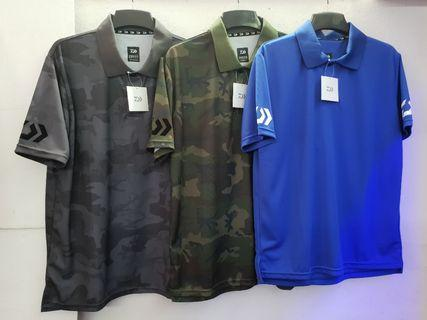 (JUST In Place & New Arrival.!!!- The 'DAIWA' Fishing Wear 2019 New Model/Version)-(A). Daiwa- Short Sleeved T SHIRT.=(ST-51019, Col: Camo Gray, Camo Green, & Blue only.!!).