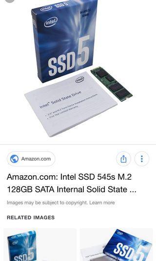 Intel M.2 128GB SSD series 5 SATA