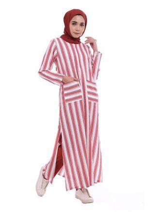 Long stripe top Qaysaa Hijab