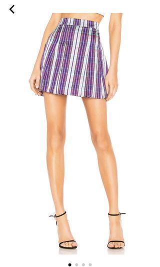 BN REVOLVE LPA plaid tennis skirt