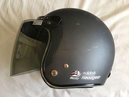 二手素色黑色3/4安全帽
