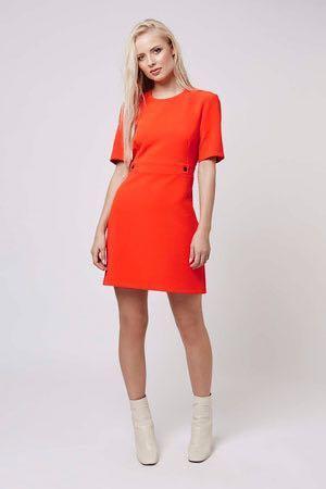 全新英國帶回 Topshop petite 橘紅色洋裝