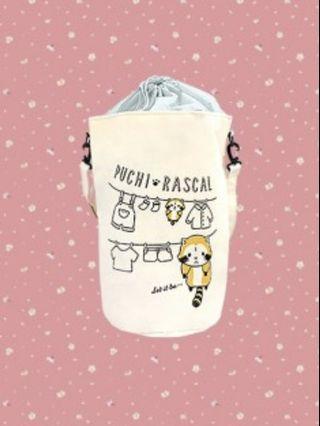 【Toreba】日本正版景 小小浣熊可背式洗衣收納袋