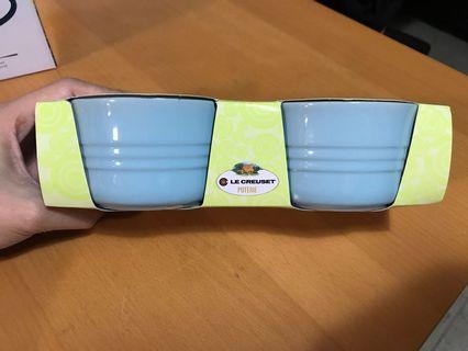 LC 全新粉藍色 ramekins 9.5cm 圓形大焗杯一對