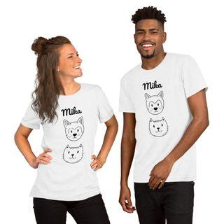 Short-Sleeve Unisex Cat and Dog Mika T-Shirt