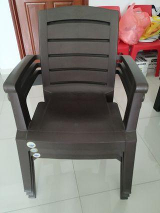 Two Plastic Arm Chair (stackable)