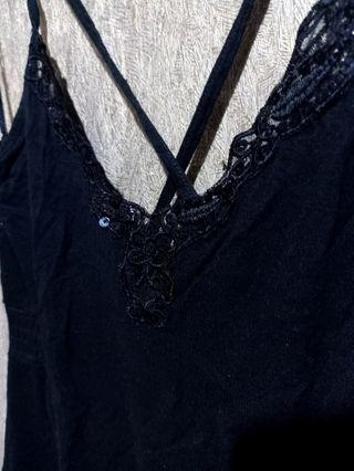 H&M Black beaded top