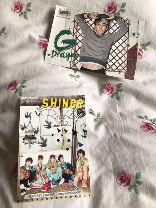 SHINee & G-dragon postcard