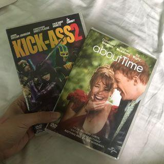 (sealed) kick ass 2 & about time dvds