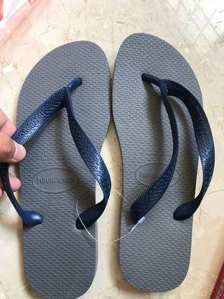 Grey blue Havaianas Slippers
