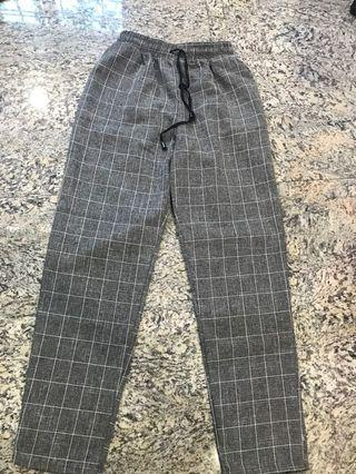 💕PRELOVED GRID PANTS💕