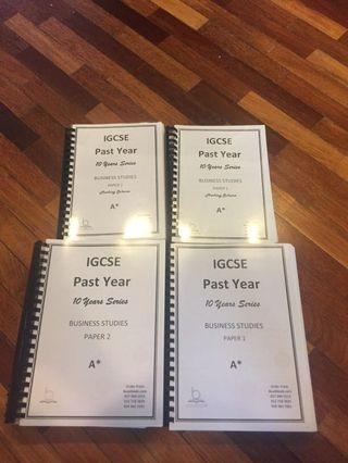 IGCSE 10 Year Past Paper Set Business Studies Barely Used
