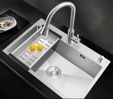 65x45 Stainless steel 304 kitchen sink 3mm