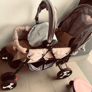 Double twin stroller used