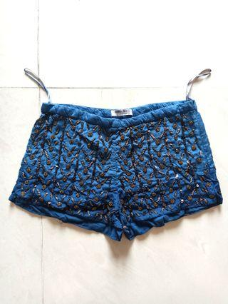 Suitblanco Blue Etnic Hotpants