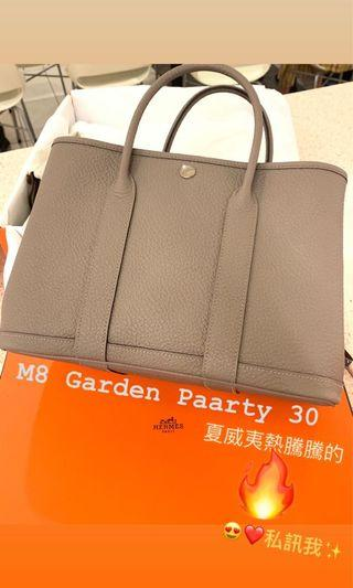 Hermes Garden Party 30 M8 Togo D stamp 熱騰騰6/15剛入手