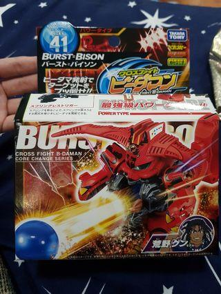 TAKARA TOMY 原裝日版 WBMA 彈珠人 CB-41 Cross Fight B- DAMAN 爆發狂牛 Burst Bison