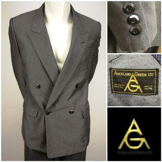 AUCKLAND GREEN LTD Double Breasted Blazer Jacket