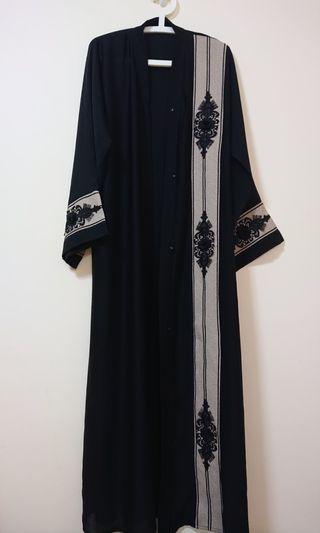 BN Black Abaya with matching pashmina/ scarf from KSA