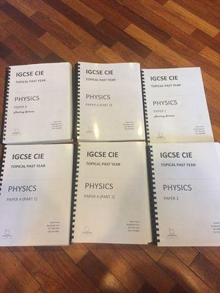 Topical IGCSE Physics Past Paper Barely Used