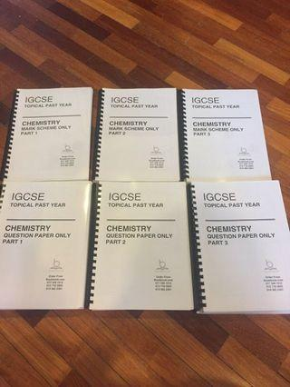 Topical IGCSE Chemistry Past Paper