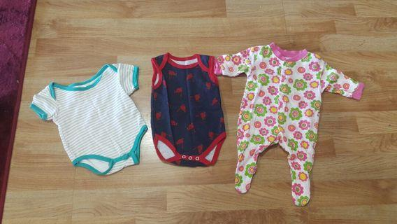 Newborn Rompers Unworn 3 pcs