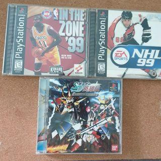 wholelot Ps1 playstation one original authentic CD game