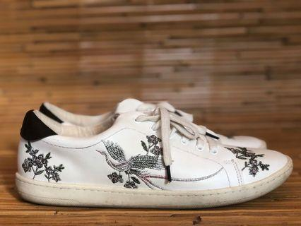 Zara embroidered trainers / sneakers 40