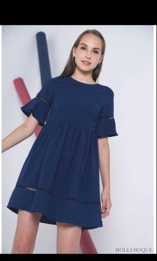 Hollyhoque zez eyelet babydoll Dress