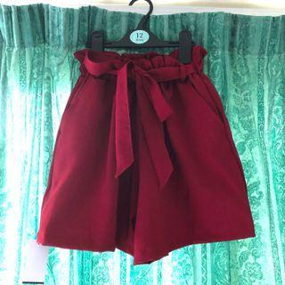 High Waisted Ribbon Shorts