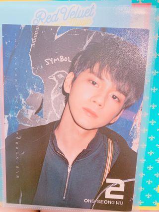 wanna one nothing without you ong seongwu calendar card