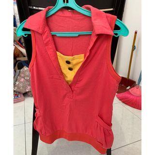 Girl sleeveless T-shirt