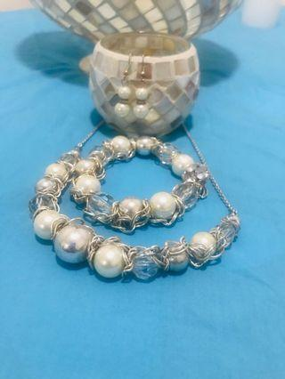 Ivory and silver 3 piece set