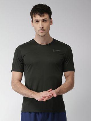 (CLEAR) Nike Miler 3M Logo Print Dri Fit Running T Shirt