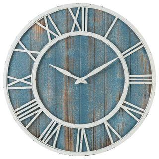 Creative Roman Wall Clock With Blue Wood Base 40cm/60cm