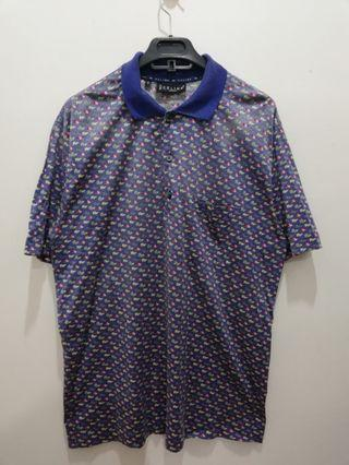Vtg Celine Paris Fullprint Collar Shirt