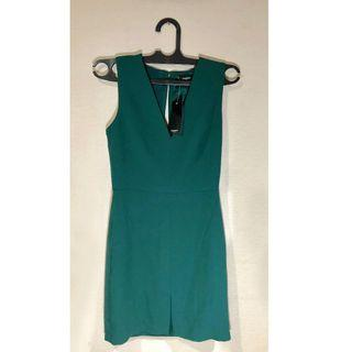 NEW MANGO Emerald Dress