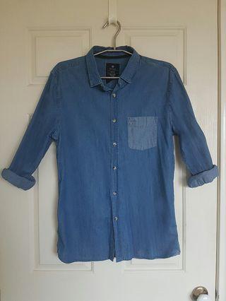 Denim Style Button Up Shirt - Cotton On