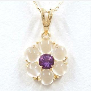 18k Amethyst & Moonstone Necklace