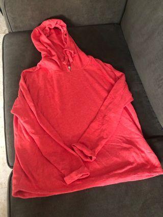 Cotton on Orange hoodie (bk lug)