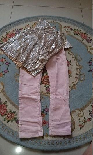 Glitter top and pants