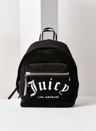 Juicy Couture Velvet Black Mini Backpack