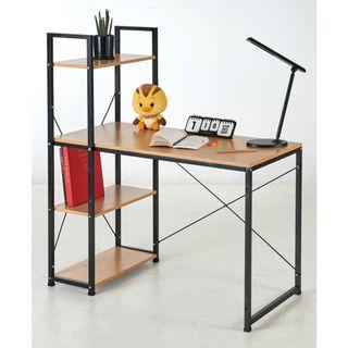 Free Delivery - OKURA Modern Computer Laptop Desk Study Table With Book Shelf